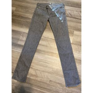7 for all mankind gray striped straight leg